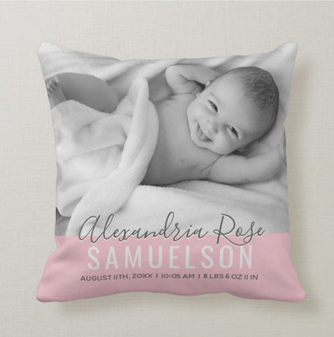 Personalised picture baby pillow - Idee Kreatives