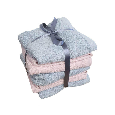 Personalised Face Cloth Bundle Of 5 Pink And Blue