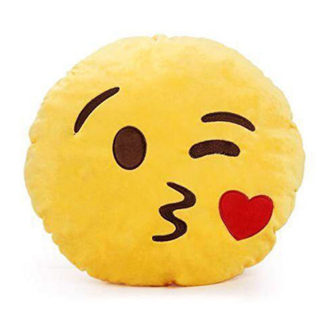 40 can emoji cushion - Kiss