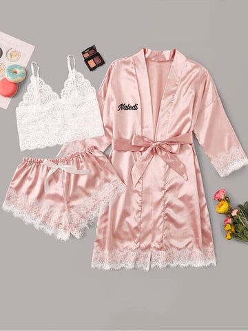Satin pajama set