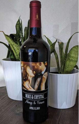Personalised picture wine - Idee Kreatives