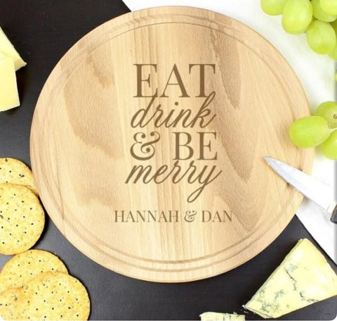 Personalised round chopping board - Idee Kreatives
