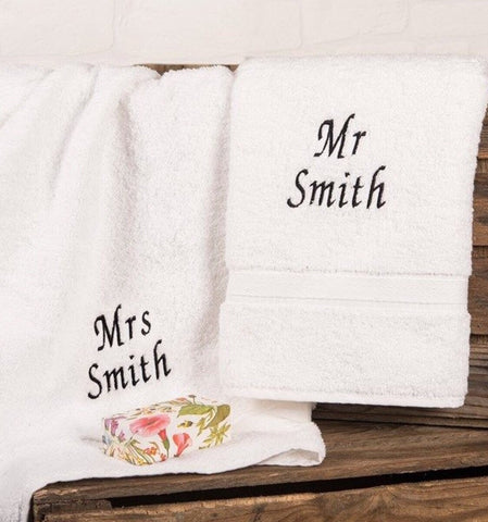 Set Of 3 Personalised Towels - White