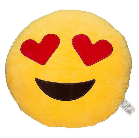 40 cm emoji cushion - heart eyes