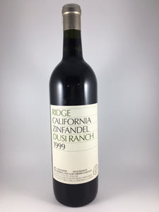 "1999 Ridge Vineyards ""Dusi Ranch"" Paso Robles Zinfandel (750ml)"