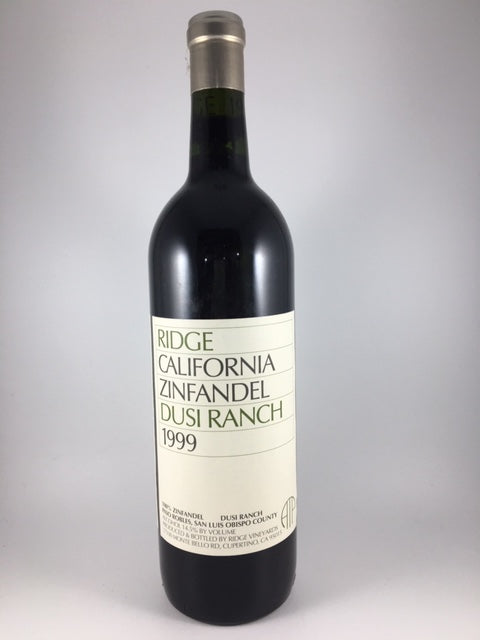 1999 Ridge Vineyards