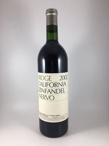 "2002 Ridge Vineyards ""Nervo"" Sonoma Zinfandel (750ml)"