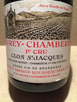 2011 Domaine Armand Rousseau Gevrey Chambertin Clos st Jacques (750ml)