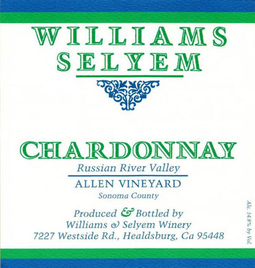 2018 Williams Selyem Chardonnay Allen Vineyard (750ml)