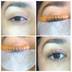 Quad Photo of Model for Lash Lift Case Study Requirement