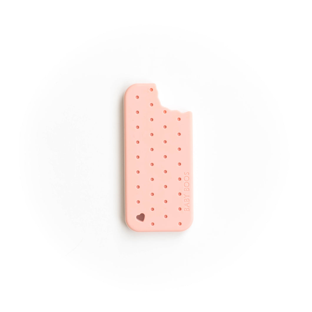 Ice Cream Sandwich Silicone Teething Pendant©