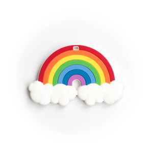 Rainbow Silicone Teething Pendant