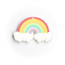 Load image into Gallery viewer, Rainbow Silicone Teething Pendant