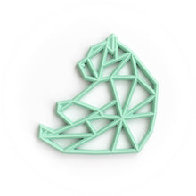 Load image into Gallery viewer, Geometric Bear Silicone Teething Pendant©