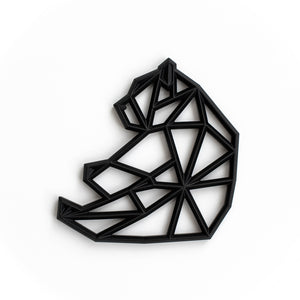 Geometric Bear Silicone Teething Pendant©