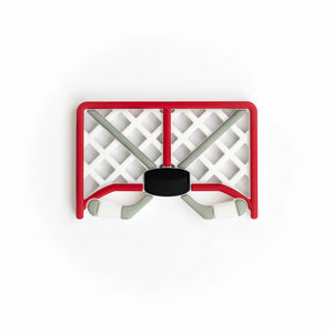 Ice Hockey Net Silicone Teething Pendant©