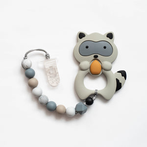 Raccoon Teething Clip