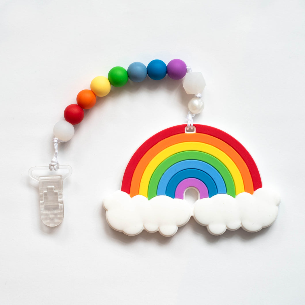 Rainbow Teething Clip