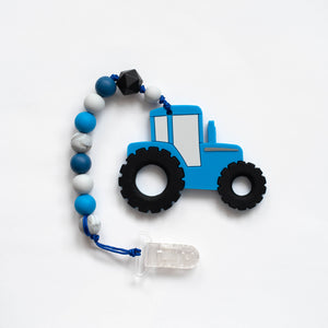 Tractor Teething Clip
