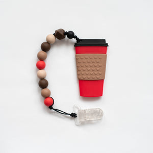 Coffee Cup Teething Clip