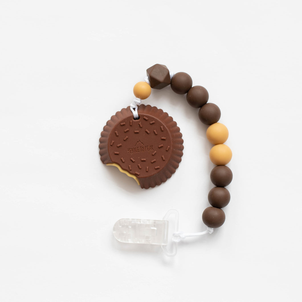 Peanut Butter Cup Teething Clip