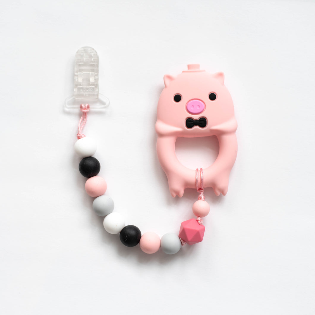 Mr Pig Teething Clip