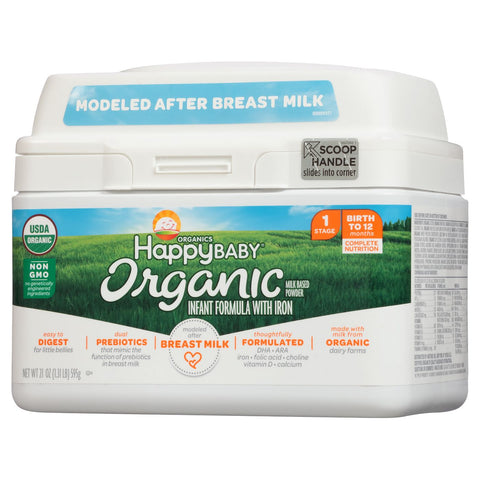 Happy Baby Organics Organic Stage 1 Milk-Based Powder with Iron Infant Formula