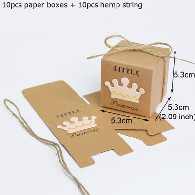 10sets/lot Heart Kraft Paper Gift Boxes for DIY Wedding,Party Decor
