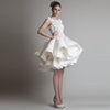 SS72 Chic Ruffles Short Bridal Gown