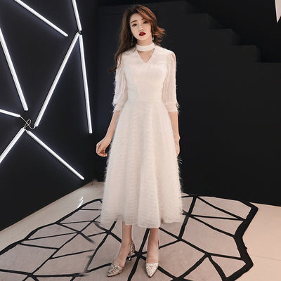 PP195 Korean style Tea length Cocktail Dresses(4 colors)