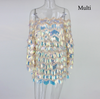 MX05 Elegant off the shoulder sequin Club Dresses(4 Colors)