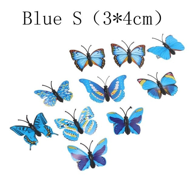 Oneckoha Fashion Ab Color Rhinestone Butterfly Brooch Pin: BJ115 : 5Pcs/Set Fashion Butterfly Bridal Hair Clips (10