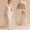 WJ34 High Neck Bridal Long Cloaks (3 Colors)