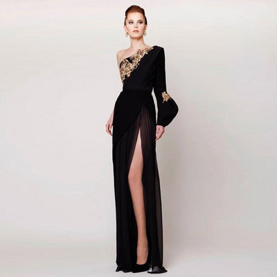 LG60 Plus Size One Shoulder Evening Gowns ( Custom colors )