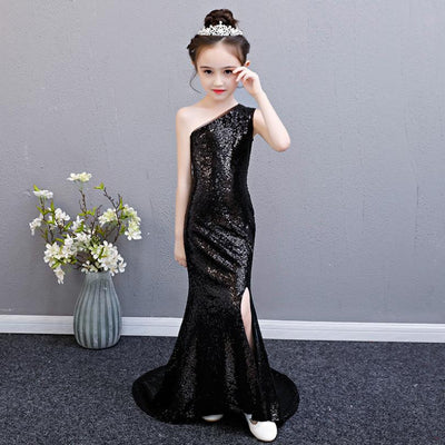 FG127 One shoulder sequins mermaid Party Girl Dresses(9 Colors)
