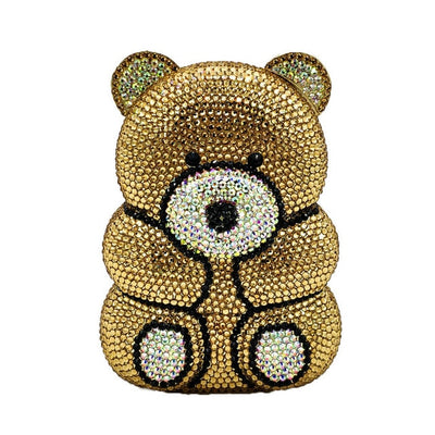 CB147 Bear Shape diamond Evening Clutch Purses(4 Colors)