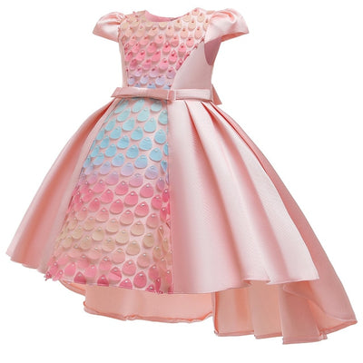 FG293 Colorful Water droplets Girl Dresses (5 Colors)