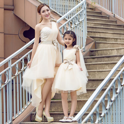 MM20 Champagne Mother&Daughter Matching Dresses