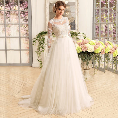 CW451 Gorgeous Long Sleeve Wedding Dresses