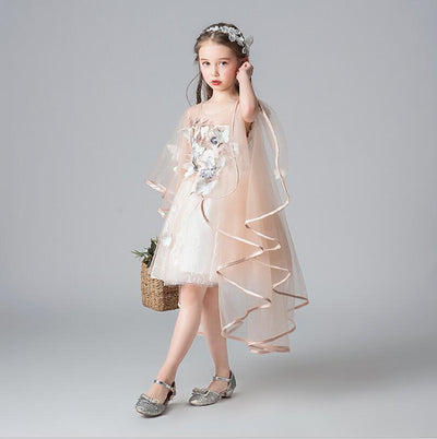 FG401 Champagne sequined First Communion dress