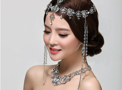 BJ40 Fashion Crystal tassel Bridal Hair ornament
