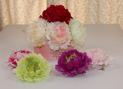 Artificial Peony Flower Head for DIY Wedding Backdrop