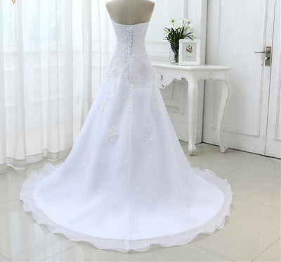 CW78 Real Picture classy strapless Bridal gown