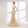 LG94 Halter neck crystal beaded mermaid Evening Gown
