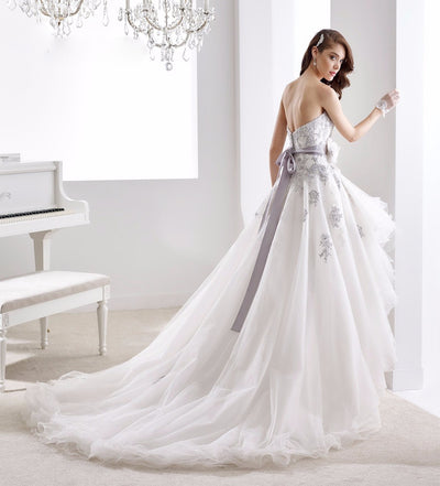 SS48 Custom Made Sweetheart Organza High Low Wedding Dresses