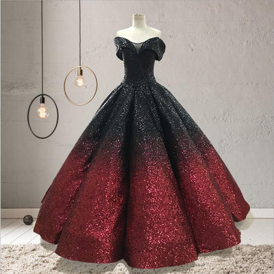 CG197 Off the shoulder sequined quinceñera Dresses (6 Colors )