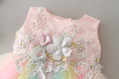 FG73 Rainbow Party Dress for Baby Girl ( 1-2 Years )