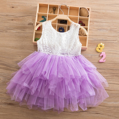 FG230 Tutu Lace flower Girl Dresses