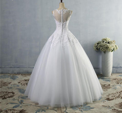 CW62 Real Photo Plus Size Lace A-Line Wedding Dresses