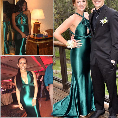 PP92 Sexy Green Prom Dresses
